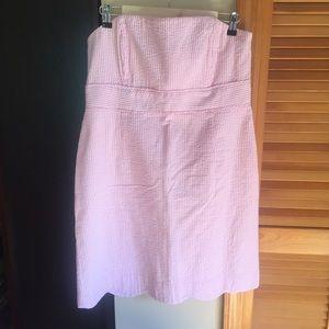 Vineyard Vines Carolyn pink seersucker dress